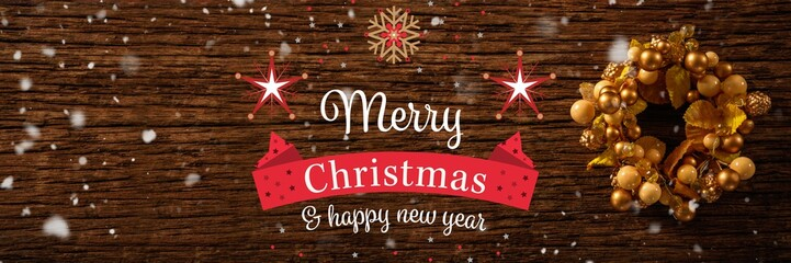 Christmas message with copy space