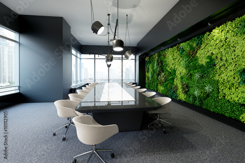Incroyable Vertical Green Wall In Modern Meeting Room