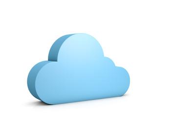 3d abstract data cloud