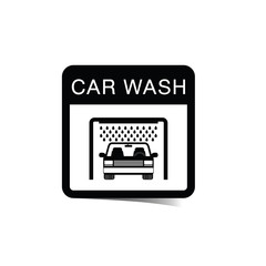 car wash sticker illustration
