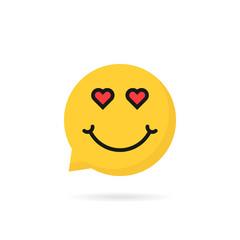 lover emoji speech bubble logo