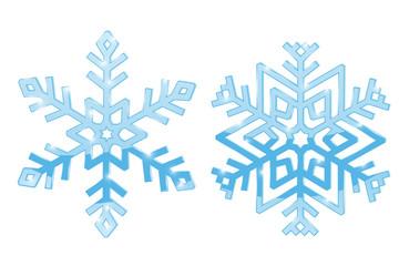 Snowflakes. Blue symbol isolated on white background