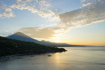 The Mount Agung, volcano,  Bali, Amed view point, Indonesia
