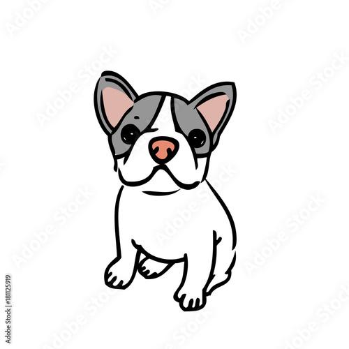 犬 イラスト フレンチブルドッグfotoliacom の ストック画像と