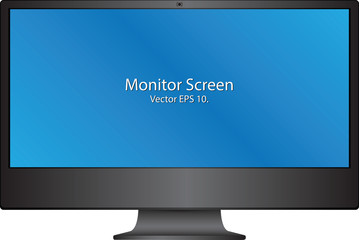 Computer Monitor Vector Illustration, EPS 10.