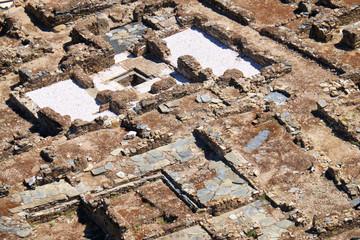Excavations of the Roman acropolis - the monument set of ancient Myrtilis city. Mertola.Portugal