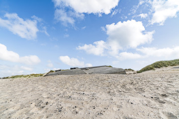 German bunkers burried in a sand dune