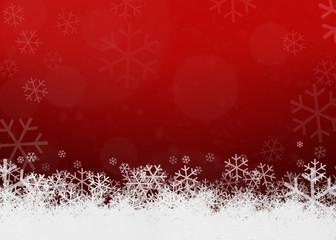 Weihnachten Hintergrund rot weisse Schneeflocken