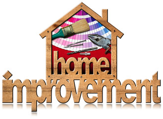 Home Improvement Symbol with Work Tools