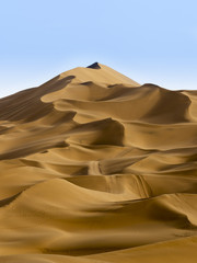 Detail of desert layer in Turpan, Xinjiang, China