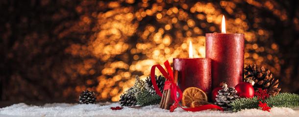 Weihnachtsdekoration Advent Kerzen