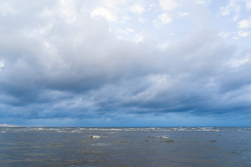 Magnificent view of the sea and the clouds. The Baltic.