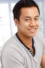 Closeup portrait of handsome man