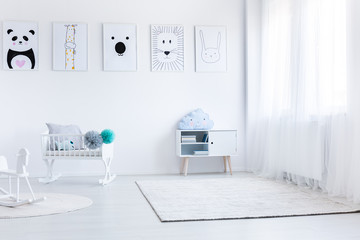 Baby's bedroom with white furniture
