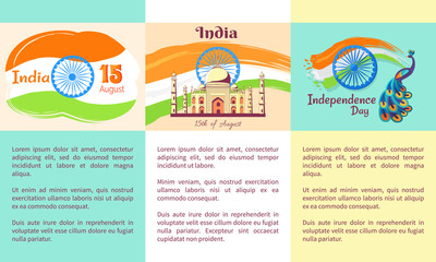 Independence Day of India Set of Posters