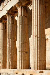 Ancient marble columns