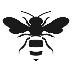 silhouette honey bee icon