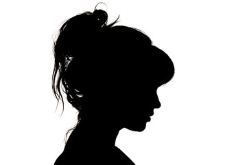 silhouette of beautiful profile of female head concept beauty and fashion