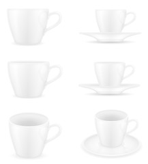 cup for coffee and tea stock vector illustration