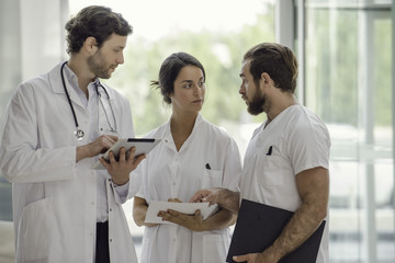 Doctors working together in clinic