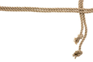 nautical rope with knots