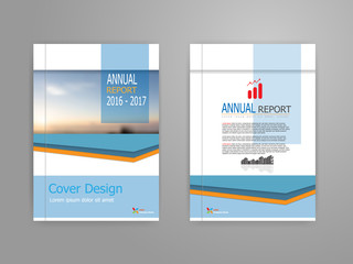 blue cover annual report brochure