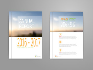 cover annual report brochure flyer template