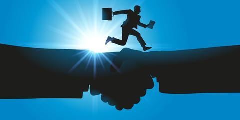 poignée de main - accord - partenariat - contrat -entreprise -business - hommes d'affaires - succès
