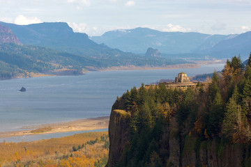 Crown Point along Columbia River Gorge in Portland OR USA America