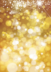 Vector bokeh, sparkle, holiday background.