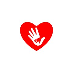 heart and hand logo, health care