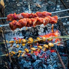 Delicious grill in outdoor