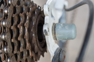 Rusty Bicycle Gearshift