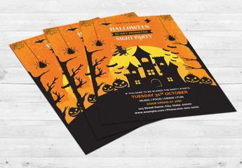 Halloween Party Flyer Layout 16