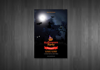 Halloween Party Flyer Layout 17