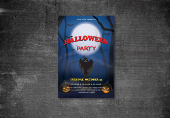 Halloween Party Flyer Layout 18