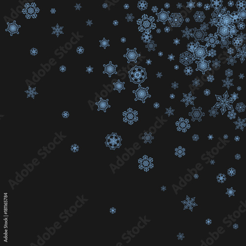 snowflake border for christmas and new year celebration holiday snowflake border on black background with