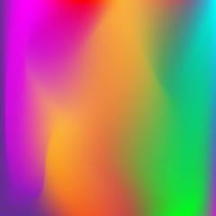 Neon holographic colorful vector background. Abstract soft pastel colors backdrop. In violet, orange, green and blue colors.