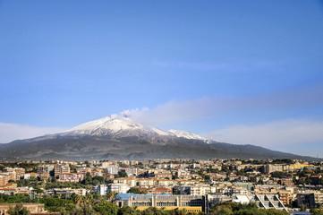 Etna volcano view of Catania