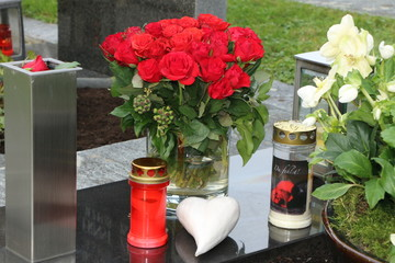 At the Cemetery, am Friedhof, Grabpflege, Trauer, Tod