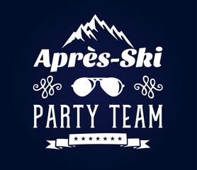 apres ski party team