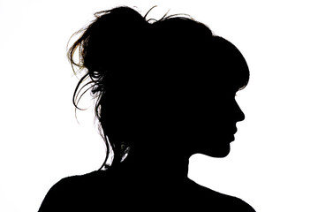 silhouette of beautiful profile of woman face concept beauty and fashion