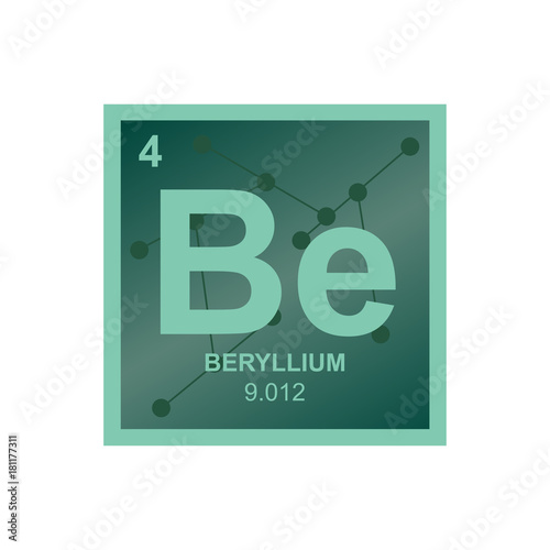 Vector symbol of beryllium from the periodic table of the elements vector symbol of beryllium from the periodic table of the elements on the background from connected urtaz