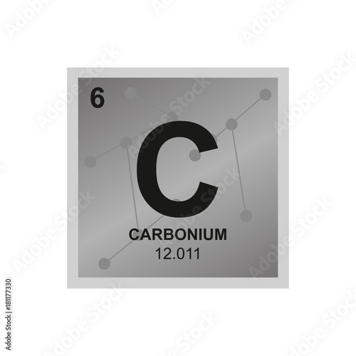 Vector Symbol Of Carbon From The Periodic Table Of The Elements On