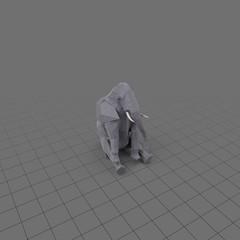 Stylized elephant sitting