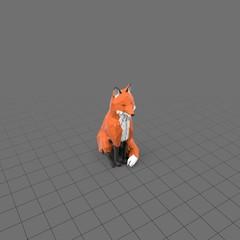 Stylized fox sitting