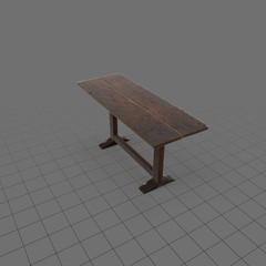 Long skinny rustic table