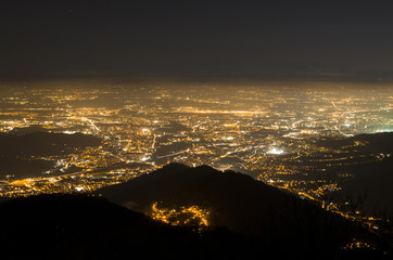 City lights from an aerial point of view