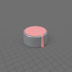 Shallow pink knob for electronics