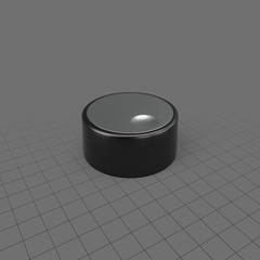 Shallow knob for electronics